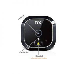 DX28 DRS LCD Digitale deurspion met deurbel