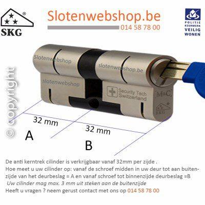 4x M&C Matrix Anti Kerntrek Veiligheids certificaat cilinder SKG***