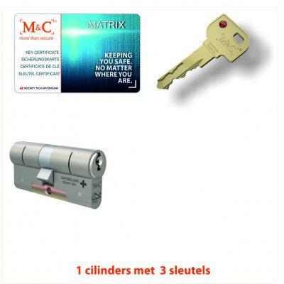 1x M&C Matrix Kerntrek Veiligheids certificaat cilinder SKG***