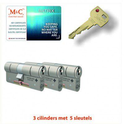 3x M&C Pro Anti Kerntrek Veiligheids certificaat cilinder SKG***
