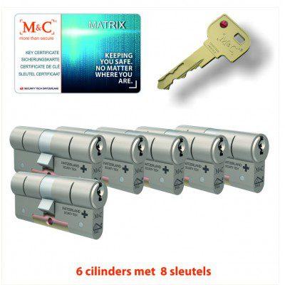 6x Matrix Anti Kerntrek Veiligheids certificaat cilinder SKG***