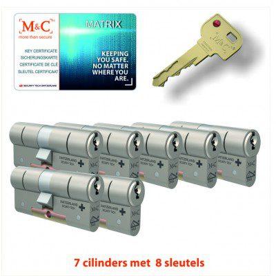 7x Matrix Anti Kerntrek Veiligheids certificaat cilinder SKG***