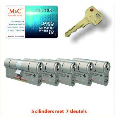 5x Matrix Anti Kerntrek Veiligheids certificaat cilinder SKG***