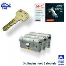 3x M&C Condor Anti Kerntrek Veiligheids certificaat cilinder SKG***