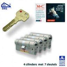 4x M&C Condor Anti Kerntrek Veiligheids certificaat cilinder SKG***