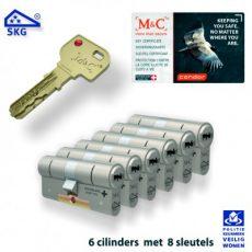 6x M&C Condor Anti Kerntrek Veiligheids certificaat cilinder SKG***