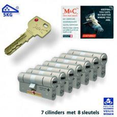 7x M&C Condor Anti Kerntrek Veiligheids certificaat cilinder SKG***
