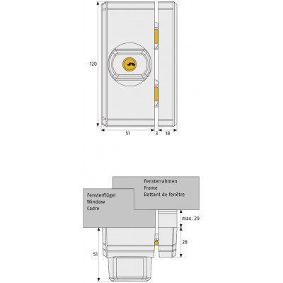 ABUS raam- en deurbijzetslot FTS96